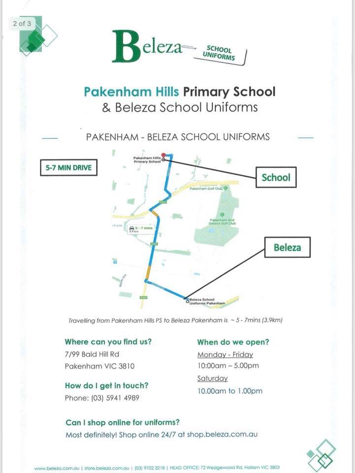 Pakenham Hills Primary School - Beleza Uniforms - Page 02